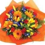Bight round bouquet