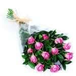 12 pink roses arrangments