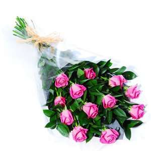 12 pink roses arrangments