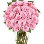 Exclusive pink rose arrangment 24 stems