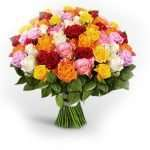 50 mixed roses of love