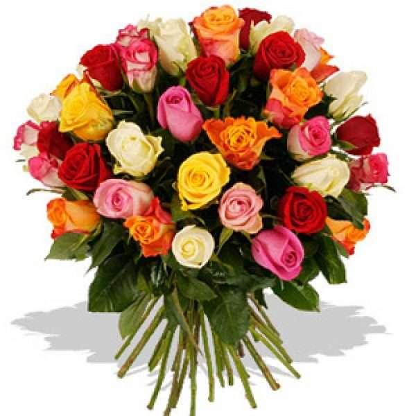 24 mixed roses bouqet